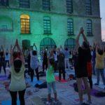 Notte Bianca dello Yoga a Matera presso la Terrazza di Palazzo Lanfranchi