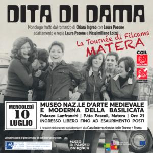 "Monologo ""Dita di Dama"" a Palazzo Lanfranchi"