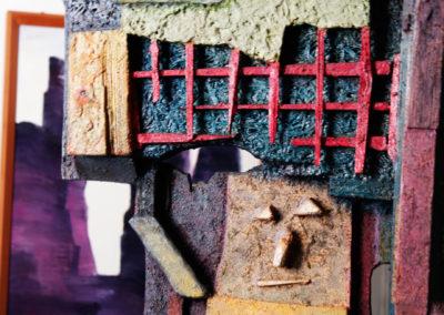 Uno dei volti realizzati da Nunzio Perrucci - Museo d'Arte d'Oggi