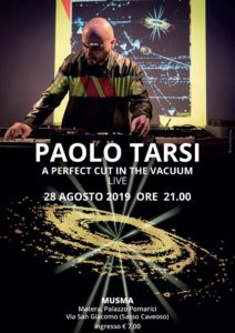 "Paolo Tarsi al MUSMA con ""A Perfect Cut in the Vacuum"""