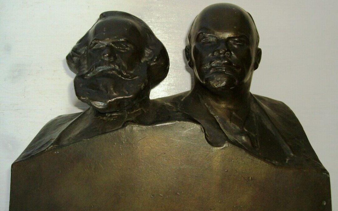 Scultura memoriale Marx e Lenin