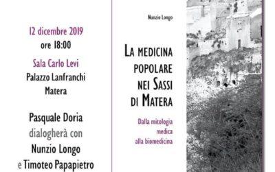 """""""La medicina popolare nei Sassi di Matera"""": presentazione del libro a Palazzo Lanfranchi"""
