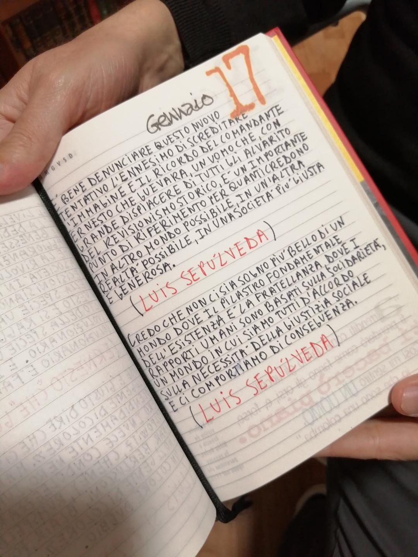 Citazioni di Luis Sepúlveda inserite nel Diario Rosso.