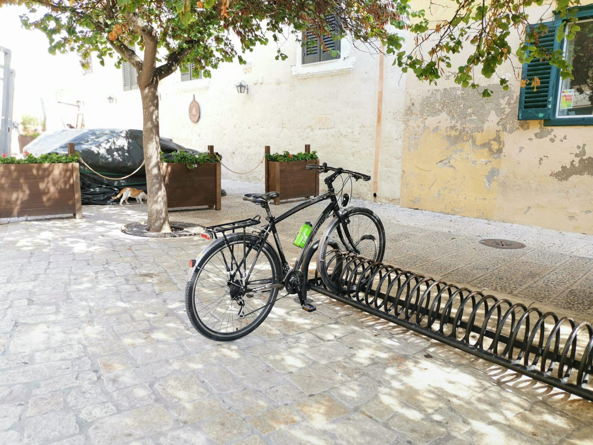 Rastrelliera per biciclette in via Ridola