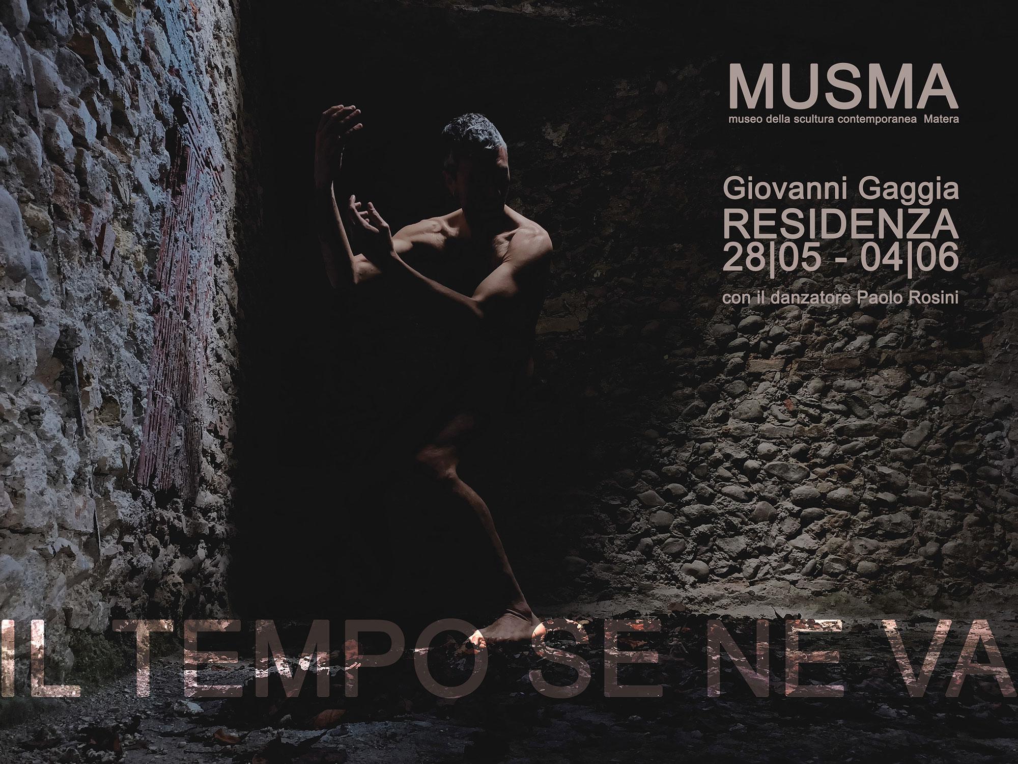 Il tempo se ne va - Residenza artistica di Giovanni Gaggia al MUSMA
