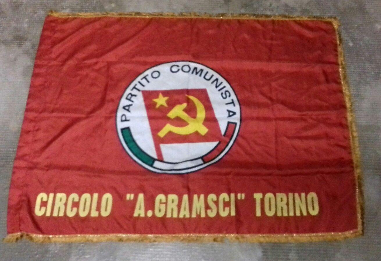 Bandiera di una sezione torinese del P.C.I. intitolata ad Antonio Gramsci (anni 80')