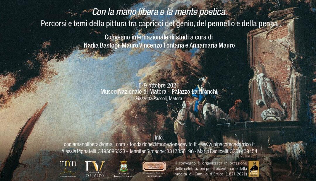 """""""Con la mano libera e la mente poetica"""" a Palazzo Lanfranchi"""